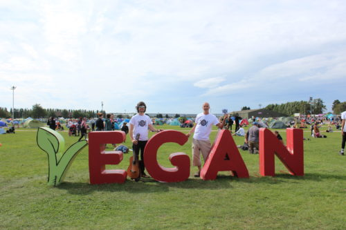 Gavin Chappell-Bates & Giles Bryant at Vegan Camp Out