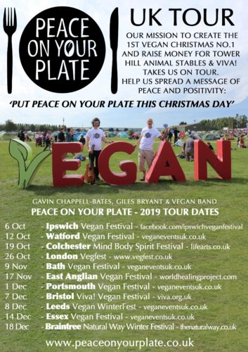 Peace On Your Plate Tour Flyer